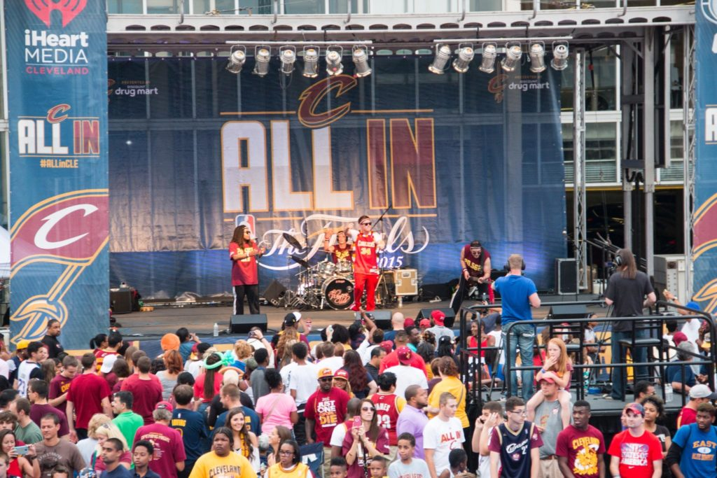 cleveland cavs party, The Players Club at the NBA Finals, NBA Finals live performance
